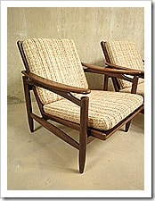 Set Deense vintage design fauteuils