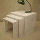 Miniset nesting tables Mathieu Mategot stijl