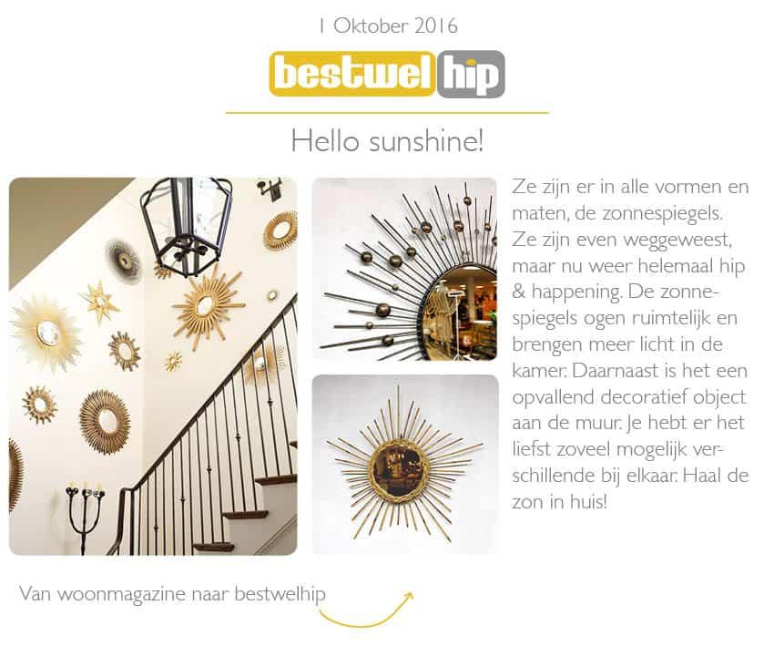 sunburst mirror mid century vintage zonnespiegel