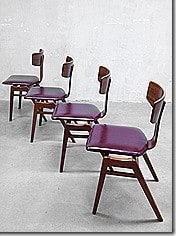 Pastoe vintage eetkamer stoelen dinner chairs easy chairs Cees Braakman