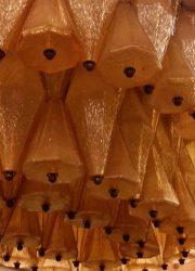 Murano kroonluchters Venini Carlo Scarpa, Polyhedral murano chandeliers Venini Carlo Scarpa