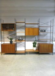 Mid century design wall unit Danish style, Deens vintage design wandmeubel