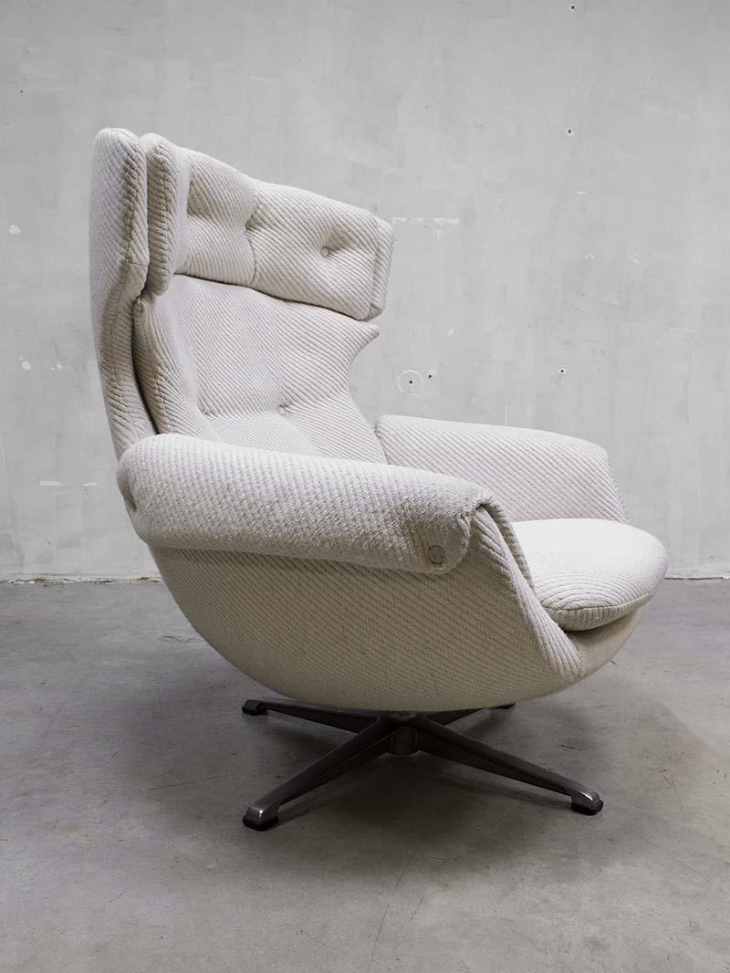 Egg Chair Stof.Vintage Design Swivel Wingback Chair Egg Chair