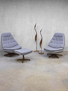 Danish swivel chairs mid century design Madsen & Schubell voor Bovenkamp