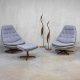 Danish swivel chairs mid century design Madsen & Schubell voor Bovenkamp