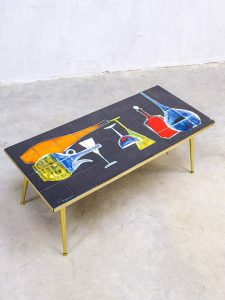 Vintage design tegel tafel coffee table Denisco Italy