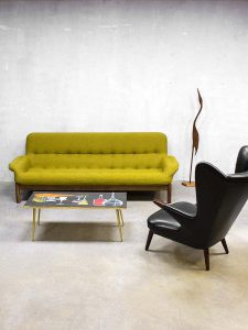 Danish mid century design sofa, vintage lounge bank