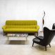 Danish mid century design sofa, vintage lounge bank