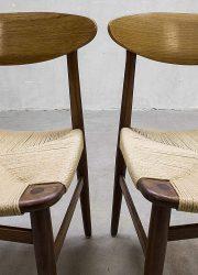 Børge Mogensen vintage Deense eetkamerstoelen, Børge Mogensen vintage dinner chair