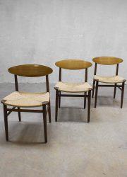 Borge Mogensen vintage dinner chairs Deense eetkamerstoelen