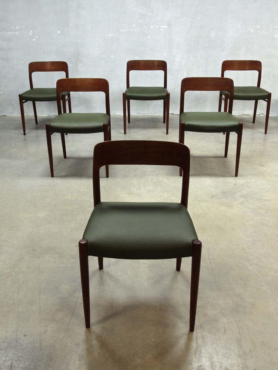 Moller danish dining chairs dinner chair moller for Eetkamerstoelen deens design