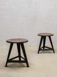 rowac kruk stool vintage industrial