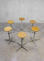 Partij Friso Kramer vintage design bar krukken kruk, vintage barstool Ahrend de Cirkel