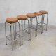 Vintage bar krukken seventies, vintage Industrial bar stool
