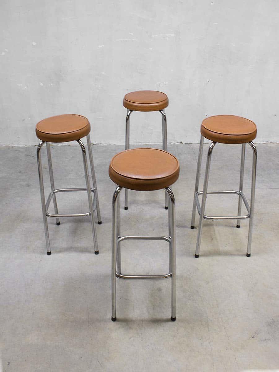 vintage bar krukken seventies vintage industrial bar stool. Black Bedroom Furniture Sets. Home Design Ideas