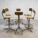 Friso Kramer Industrial bar stool, vintage bar krukken Friso Kramer industrieel