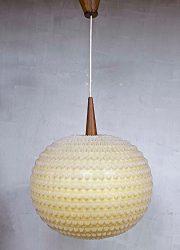 Midcentury vintage hanglamp, vintage lamp sixties