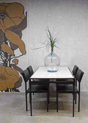 vintage eetkamerset Pastoe Cees Braakman Japanse serie tafel en stoelen