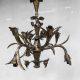 vintage handcrafted 'Sculptural Flower' lamp Brutalism