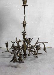 vintage Brutalism hanging lamp handcrafted seventies