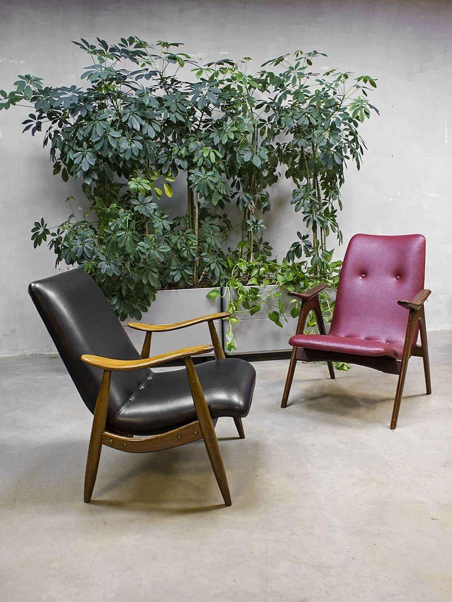 Webe louis van teeffelen vintage design lounge stoel lounge chair - Lounge warme kleur ...