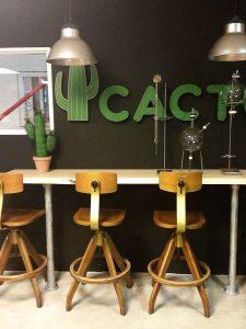 Vintage architecten barstool stool Ama Elastik, vintage barkruk Ama elastik