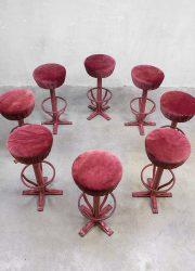 Unieke partij vintage bar krukken, vintage bar stool Industrial