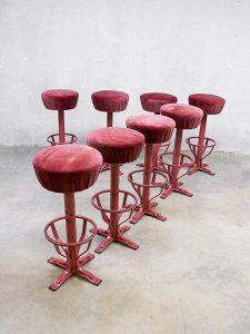 partij vintage bar krukken kruk retro, vintage bar stool stools Industrial