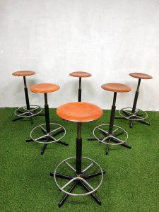 Vintage barkruk krukken industrieel, Industrial vintage stools barstools