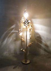 Mid century design brass lamp flowerlamp Hans Kogl Hollywood regency bloemlamp