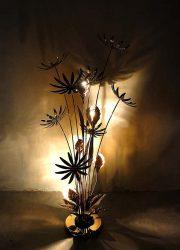 Mid century design brass lamp flowerlamp Hans Kogl Hollywood regency