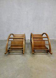Midcentury vintage design schommelwagen loopwagen Hans Brockhage Schaukelwagen