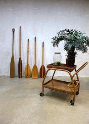 Vintage houten roeispaan, decorative wooden oar