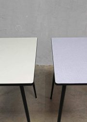 Vintage design table fifties 'minimalism', vintage eetkamer tafel jaren 50