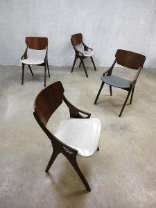 Deense vintage design eetkamer stoelen Hovmand Olsen, Danish vintage dinner chairs H. Olsen
