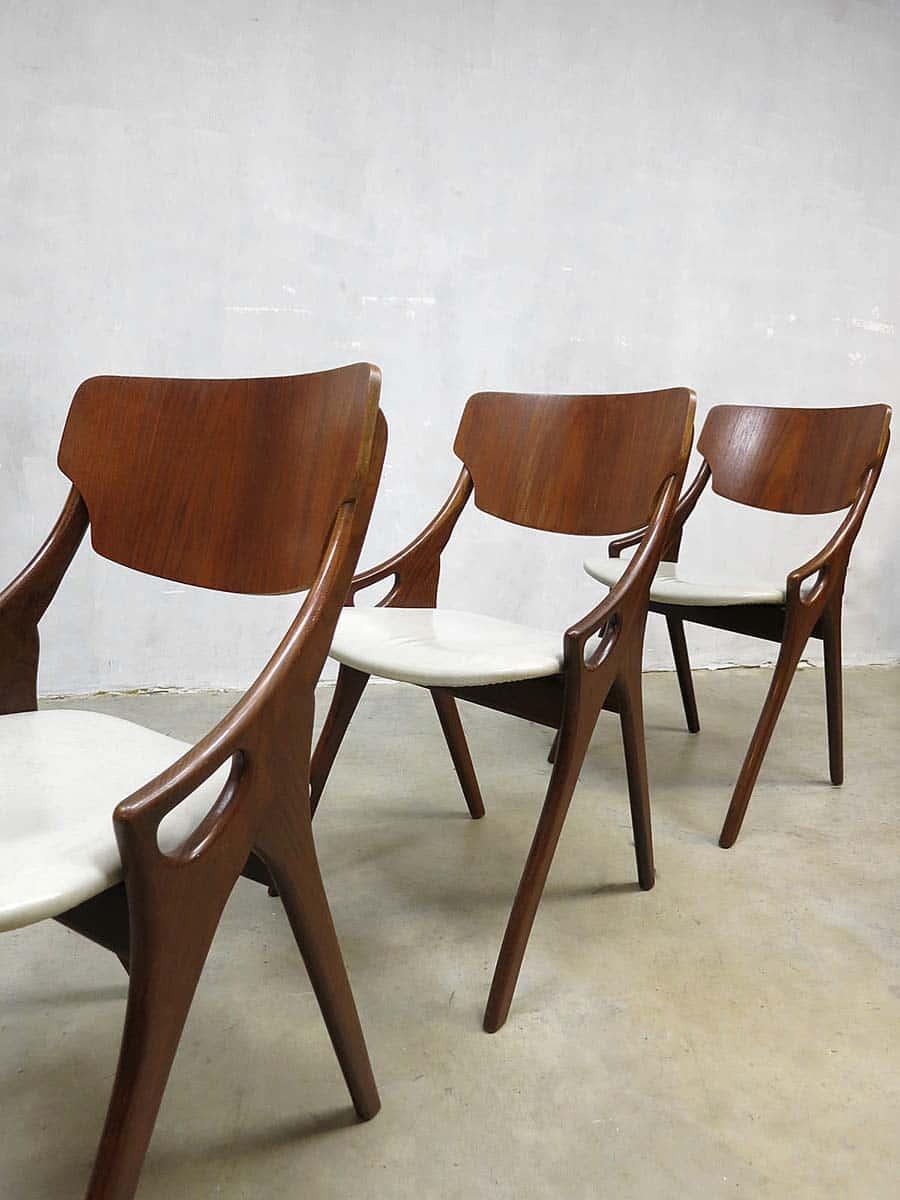 Deense vintage design eetkamer stoelen hovmand olsen for Vintage stoelen