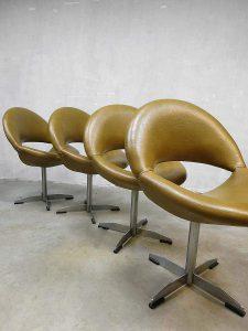 Vintage design eetkamerstoelen kuipstoelen swivel chairs