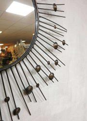 Vintage design zonnespiegel, sunburst vintage design mirror