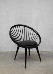vintage circle chair Yngve Ekström spijlenstoel