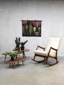 Mid century vintage design rocking chair Webe Louis van Teeffelen schommelstoel