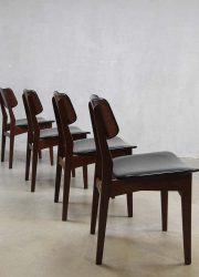 Vintage design Danish dinner chairs, vintage deense eetkamerstoelen
