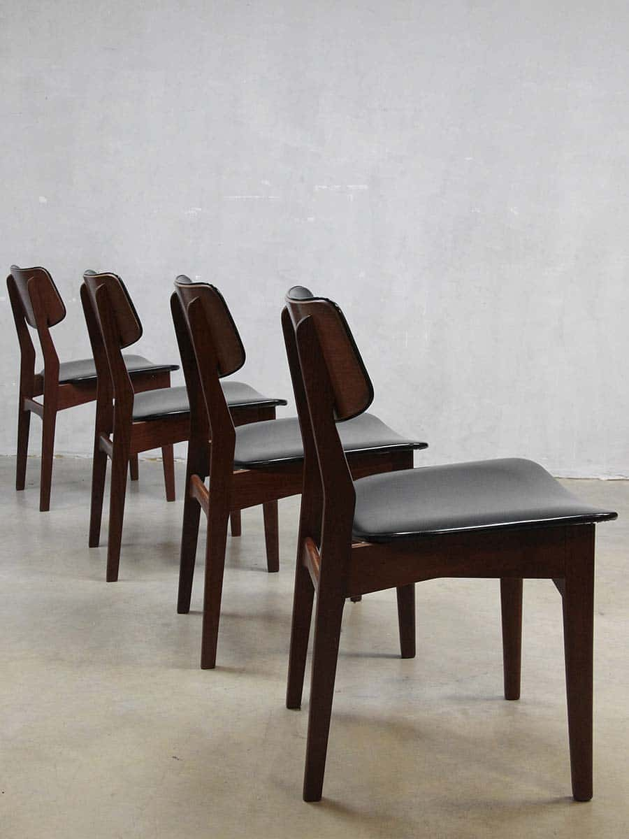 Vintage design danish dinner chairs vintage deense for Design retro esstisch scandinavia