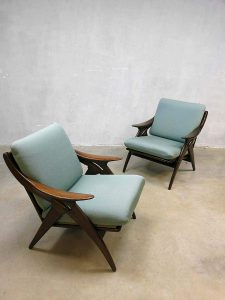 De Ster Gelderland lounge set, vintage sofa & armchairs Dutch design