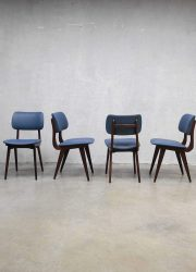 Vintage design eetkamerstoelen Webe Louis van Teeffelen, vintage dinner chairs Danish design