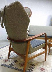 Mid century vintage design lounge set Bovenkamp sofa & wingback chairs