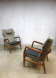 Mid century vintage design lounge wingback chair Bovenkamp sofa & wingback chairs