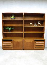 Mid century design cabinet wall unit vintage Deense wandkast