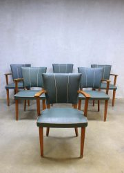 Fifties vintage design eetkamer stoelen, vintage retro dinner chairs