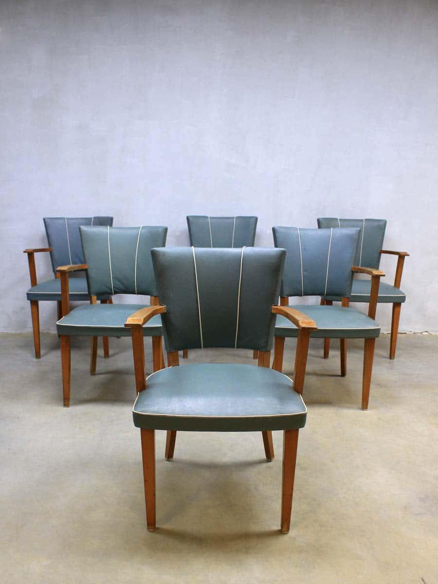 vintage design eetkamer stoelen, vintage retro dinner chairs