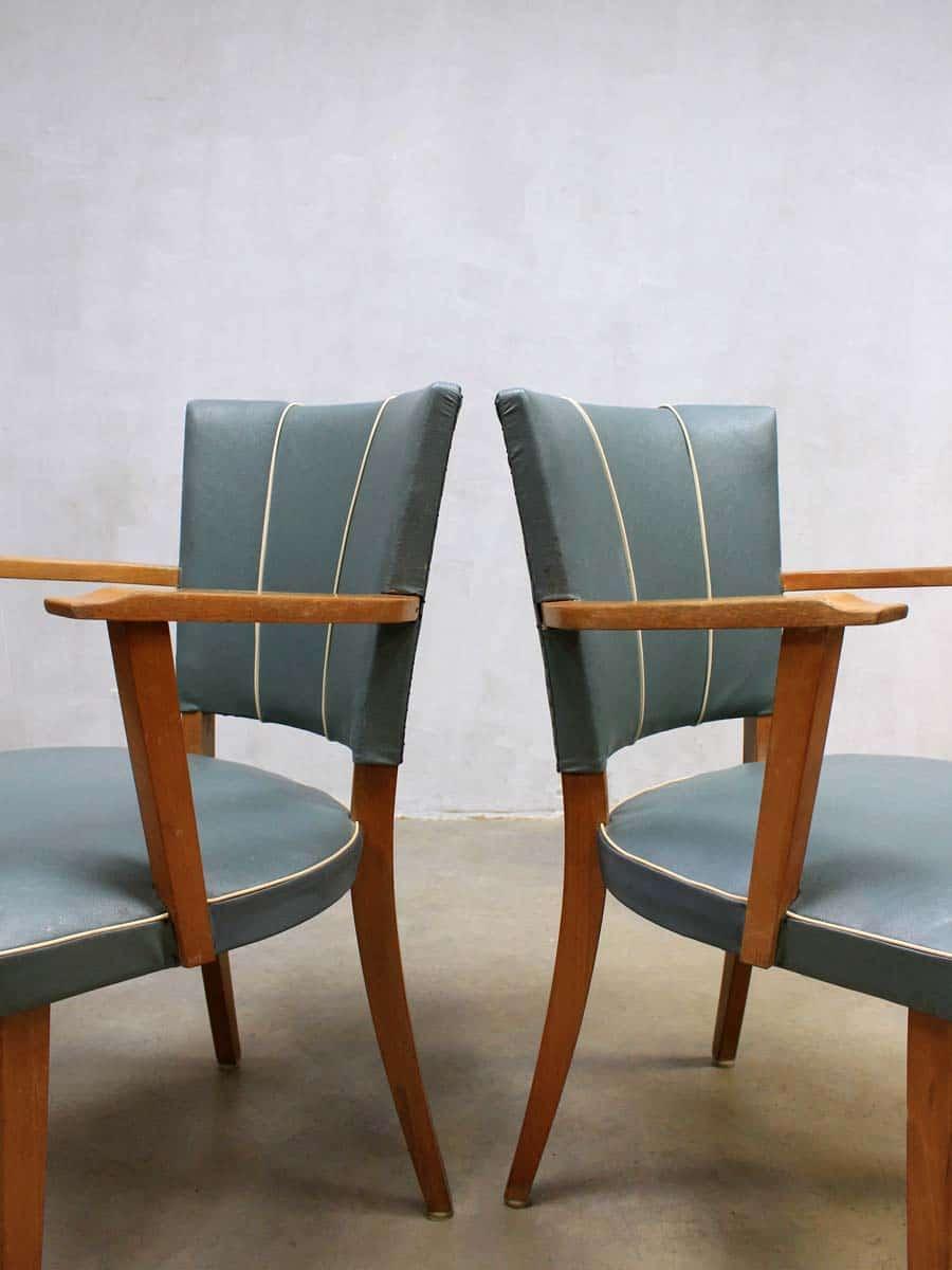 Fifties vintage design eetkamer stoelen, vintage retro dinner chairs